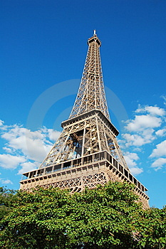 Eiffel Tower With EU Symbol Royalty Free Stock Photos - Image: 8467308