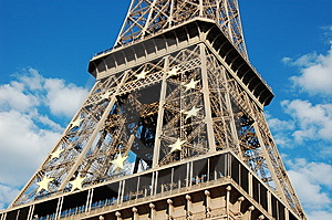 Eiffel Tower With EU Symbol Stock Images - Image: 8467434