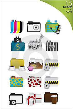 Icons And Folders Stock Images - Image: 8467524