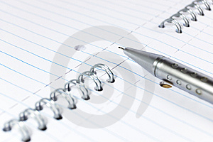 Mechanical Pencil On A Notepad Royalty Free Stock Photo - Image: 8467685