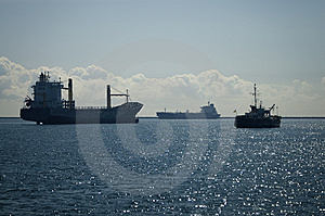 Three Vessel In Port Royalty Free Stock Photo - Image: 8468015