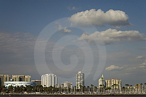 Long Beach Skyline Royalty Free Stock Photography - Image: 8468117