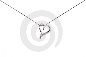 Silver Chain With Heart Stock Photos - Image: 8468603
