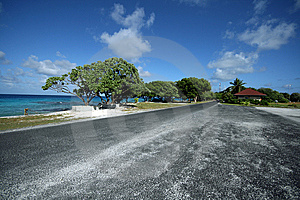 Desert Road On Island Stock Photos - Image: 8468833