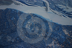 Siberia Aerial City Royalty Free Stock Images - Image: 8470099