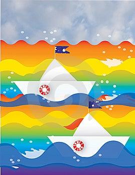 Rainbow Sea Stock Photo - Image: 8472320