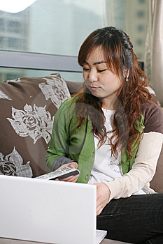 Young Girl With Laptop Stock Images - Image: 8472654