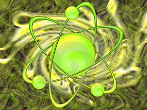 Atom Green - Abstract Background Stock Images - Image: 8472664