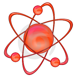 Atom Red - White Background Royalty Free Stock Photography - Image: 8472707