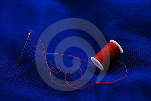 Needle And Thread Royalty Free Stock Image - Image: 8472756