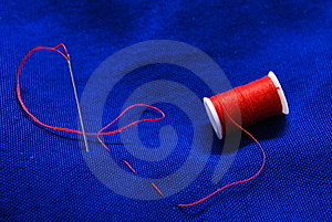 Needle And Thread 2 Stock Photos - Image: 8472953
