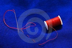 Needle And Thread 2 Stock Photos - Image: 8472953
