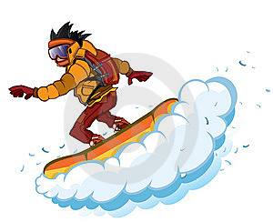 Snowboarder Isolation Royalty Free Stock Photos - Image: 8473048