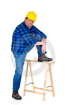 Carpenter At Work Royalty Free Stock Images - Image: 8473349