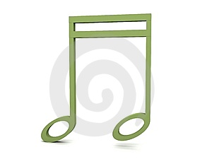 Three Dimensional Green Clef Notation Royalty Free Stock Photos - Image: 8473648