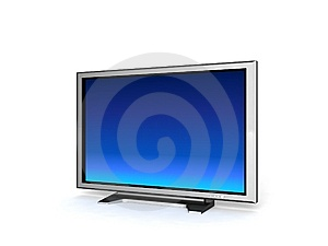 Televisione Dell'affissione A Cristalli Liquidi Fotografie Stock Libere da Diritti - Immagine: 8473668