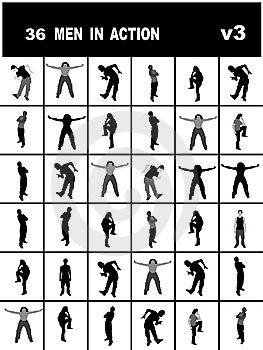Hommes Dans L'action Photos libres de droits - Image: 8473718