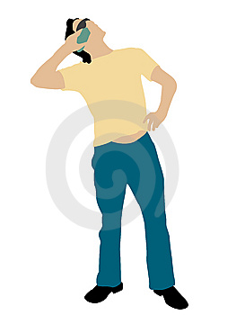Man Posing With Cellphone Royalty Free Stock Image - Image: 8473876
