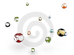 Sphere Globes Royalty Free Stock Images - Image: 8474029
