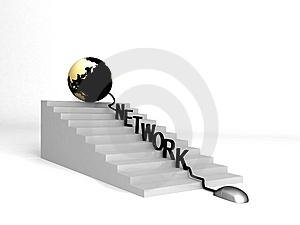 Globe And Network On Progress Stock Photography - Image: 8474102