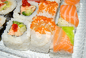 Rolls From A Crude Fish. Stock Photo - Image: 8474180