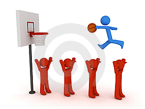 Slam Dunk Stock Image - Image: 8474241