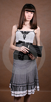Graceful Girl With A Lady Bag Royalty Free Stock Photo - Image: 8474315