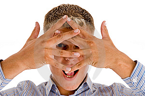 Male Showing Hand Gesture Stock Photo - Image: 8474370