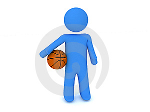 Person With Ball Royalty Free Stock Images - Image: 8474469