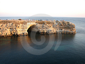 Rocky Cape With Grotto. Stock Photo - Image: 8474770