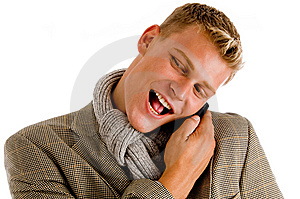 Young Professional Man Receiving His Call Stock Photography - Image: 8474802