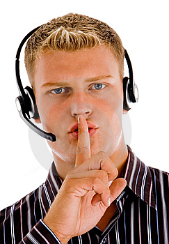 Customer Cilent Indicating For Silent Royalty Free Stock Photo - Image: 8474935