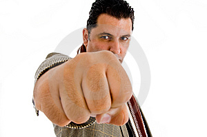 Caucasian Showing Punch Stock Photography - Image: 8475342