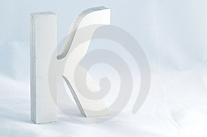 Letter K Royalty Free Stock Photography - Image: 8476097