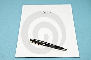 Notiz 2 Royalty Free Stock Photo - Image: 8476495