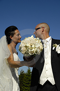 Wedding Bouquet And Wedding Couple Stock Photography - Image: 8478242