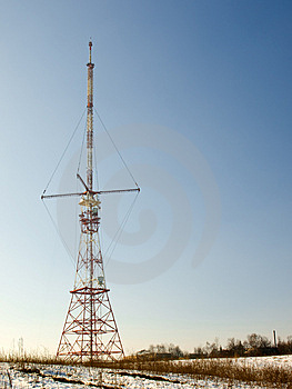 Red And White Antenna Royalty Free Stock Photography - Image: 8478487