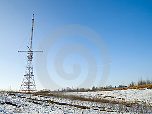 Red And White Antenna Horizontal Royalty Free Stock Photos - Image: 8478608