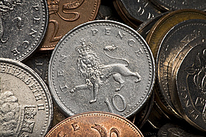 British Coins Stock Photos - Image: 8479063