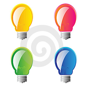 Set Of 4 Lightbulbs Stock Image - Image: 8479091