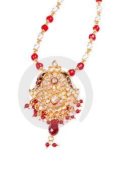 Golden Pendant Royalty Free Stock Photo - Image: 8479685