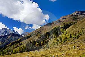 Day View Of Highland At Sichuan Province China Royalty Free Stock Photos - Image: 8479688