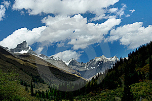 Day View Of Highland At Sichuan Province China Stock Images - Image: 8479734