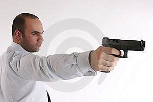 Man With A Gun Royalty Free Stock Images - Image: 8480779