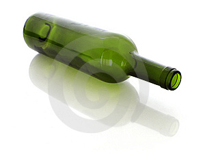 Green Glass Bottle Royalty Free Stock Photography - Image: 8481327