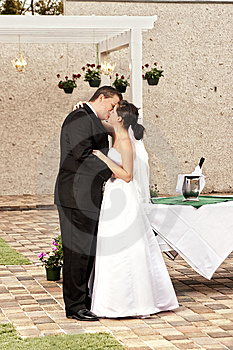 Newlyweds In Garden Stock Image - Image: 8481511