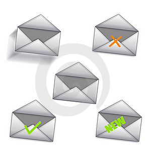 Message Icons Stock Photography - Image: 8482942