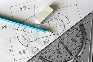 Detailed Blueprints Stock Photography - Image: 8483302