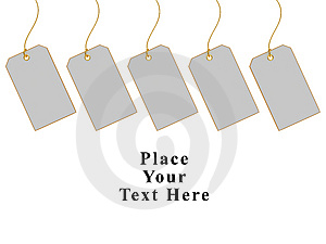 Blank Gift Tags Stock Photo - Image: 8484390