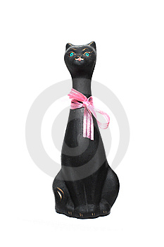 Black Cat Statuette Stock Photo - Image: 8484670